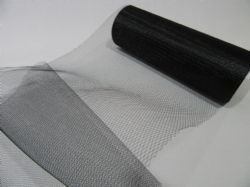 Black 15cm 150mm 2 or 10 metre Roll Tulle Mesh Net Netting (nearly 6 inch) Tutu